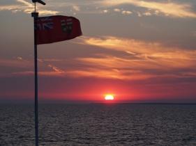Sunset on board